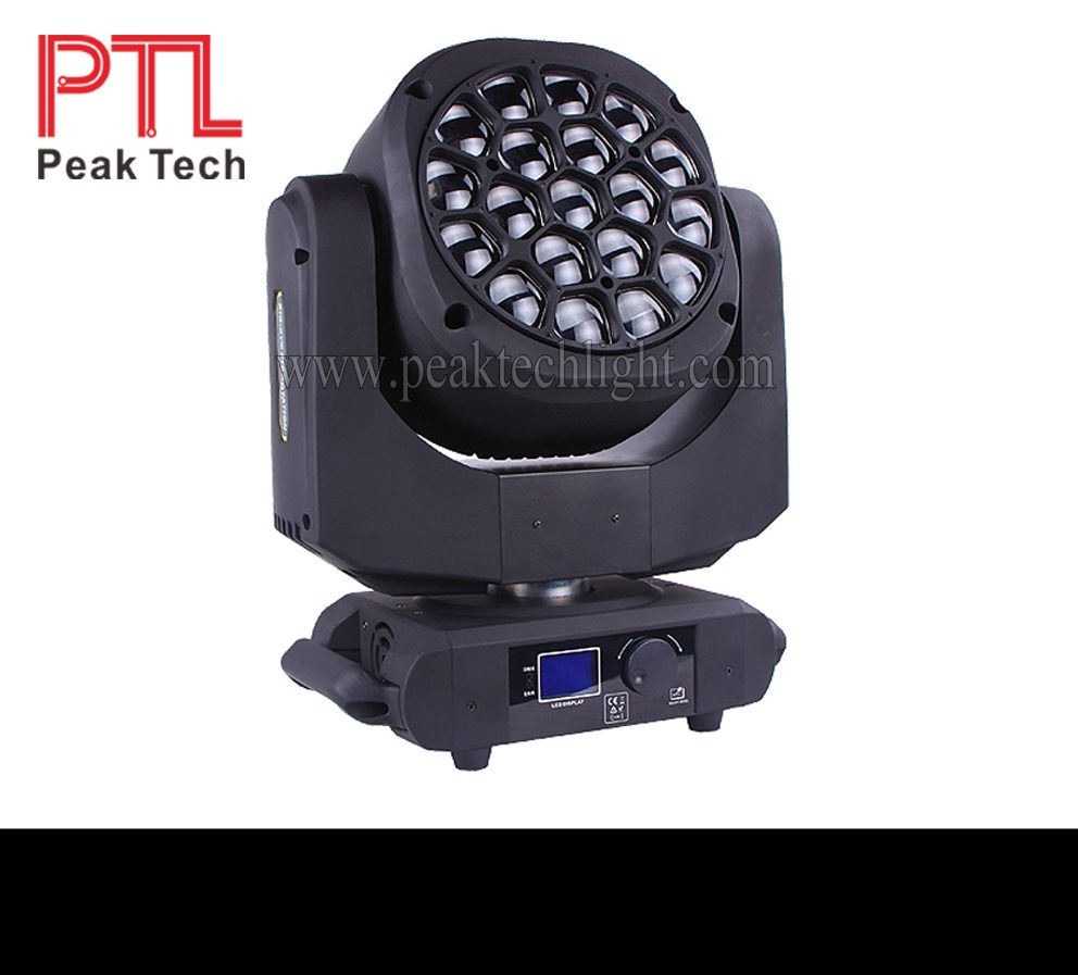 PT-MW1915 19pcs 15w RGBW 4in1 OSRAM rotating moving head led Big bee eyes