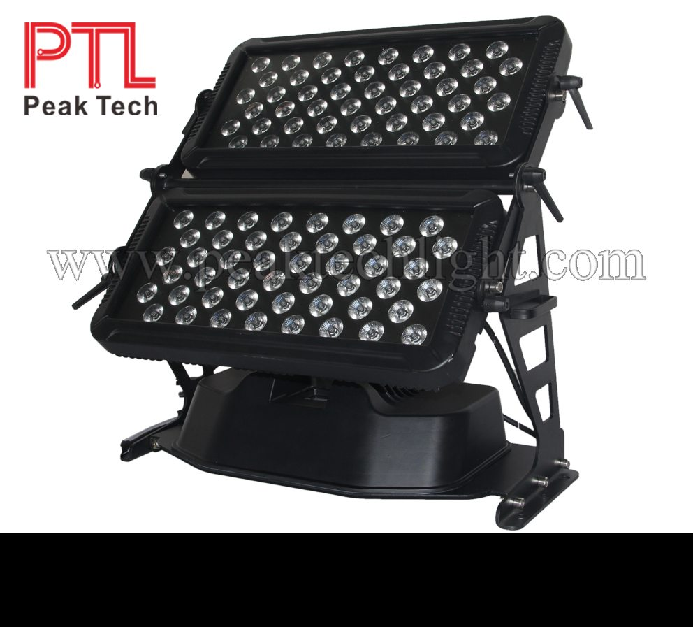 PT-W903 96pcs Outdoor LED RGBWA UV 6in1 Double-Head City Color Light